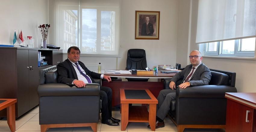 ÜMSİAD Başkanı Sn. Ümit GEDİMAN'ın Ümraniye İlçe Sağlık Müdürü Sn. Dr. Cemal KARAĞAÇ'ı Ziyareti